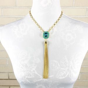Vince Camuto Gold And Turquoise Necklace